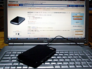 BUFFALO ポータブルハードディスク HD-PET320U2-BK