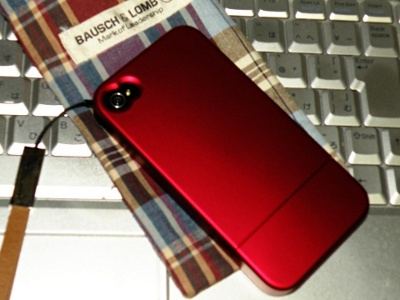 Brighton iPhone4専用ケース RUBBER COATING CASE FOR iPhone 4 赤