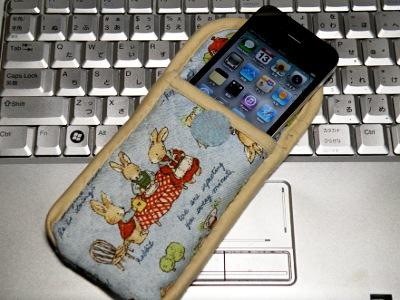 iPhone4用手製ケース