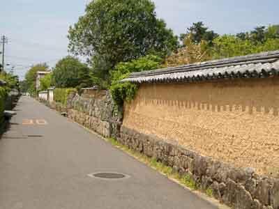 萩スナップ~土塀