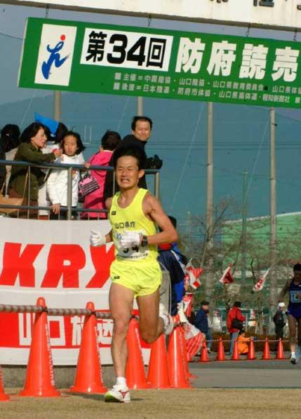 防府読売マラソン、ラスト400m