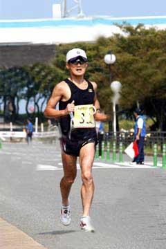 シティマラソン福岡2004、ラスト500m