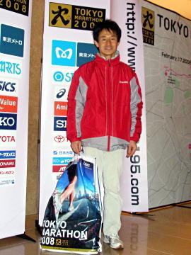 東京マラソン2008選考会の部受付 ヒルトンホテルに夜、最後に到着