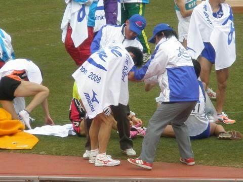 2008年びわ湖マラソンゴール後