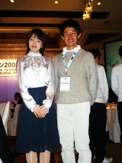 東京マラソン2008セレモニーでちばちゃんと