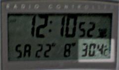 昨夜の我が家の気温