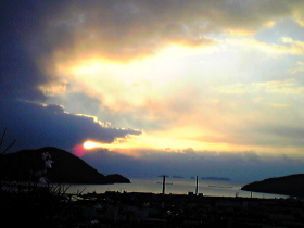 桑の山から見る2010年初日の出