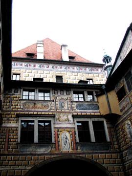チェスキー・クルムロフ城第3中庭にあるルネサンスの壁画