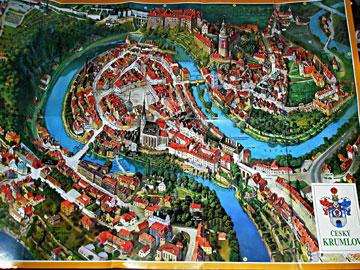 ヴルタヴァ川の巡る街