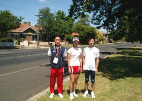 Ballaratにて飯村、泉、金子