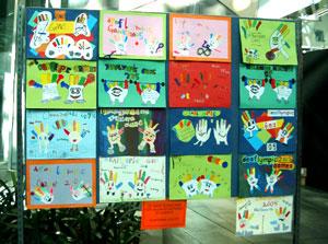 聾児童による大会シンボルマークスケッチ