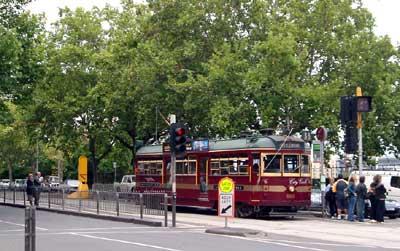 市内を走るトラム(路面電車)