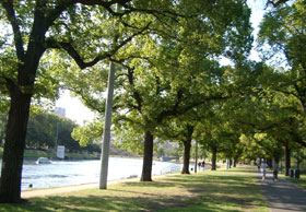 市民の憩いの場、ヤラ川沿い