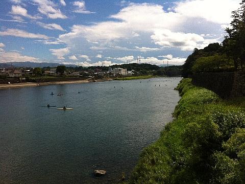人吉市を流れる球磨川