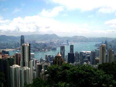 ヴィクトリアピークから見下ろす香港