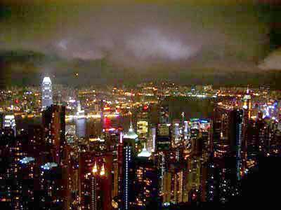 ヴィクトリア・ピークから見下ろす香港の夜景
