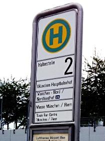停留所(Haltestelle)を表すHマーク