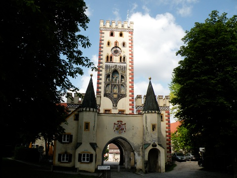 ゴシック様式のバイエルン門 Bayertor
