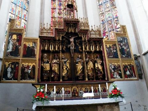 彫刻、扉絵、金色燦然な十二使徒祭壇