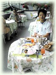 ホテル・アルテポストでの朝食