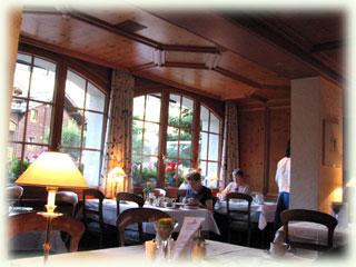 ツェルマットでのホテルレストラン