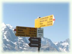 ハイキング用標識 wanderweg