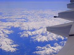 機内から見るカナディアン・ロッキー